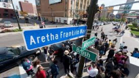 The Queen Of Soul, Aretha Franklin, Honored With Her Own Street In Detroit!