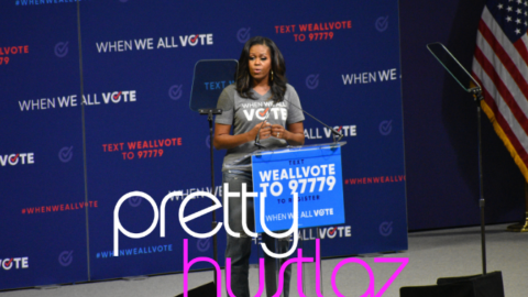 "Michelle Obama Headlines The ""When We All Vote Rally"""