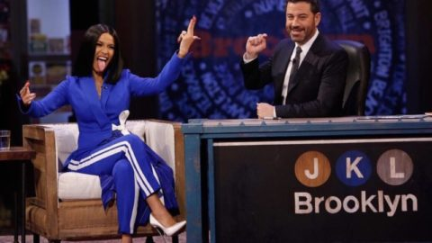Cardi B. Talks Motherhood, Broken Vagina & The Raccoons on Jimmy Kimmel